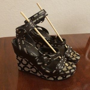 Authentic Coach wedge sandals